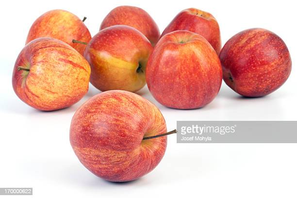 apples on white - gala stock pictures, royalty-free photos & images