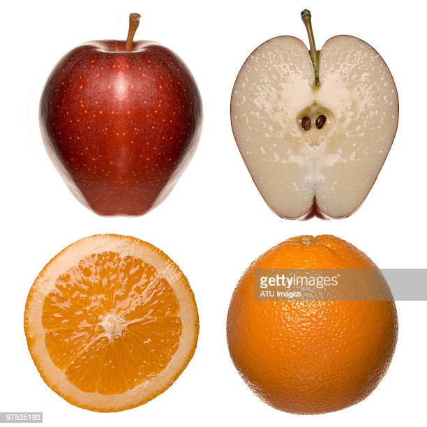 Apples oranges and slices