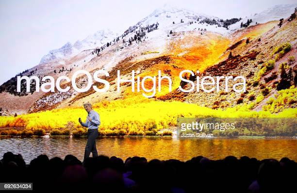 Apple's Senior Vice President of Software Engineering Craig Federighi speaks during the opening keynote address the 2017 Apple Worldwide Developer...