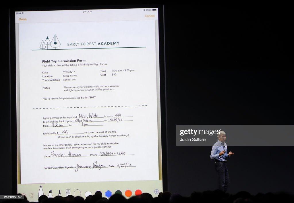 Keynote Address Opens Apple Worldwide Developers Conference : News Photo