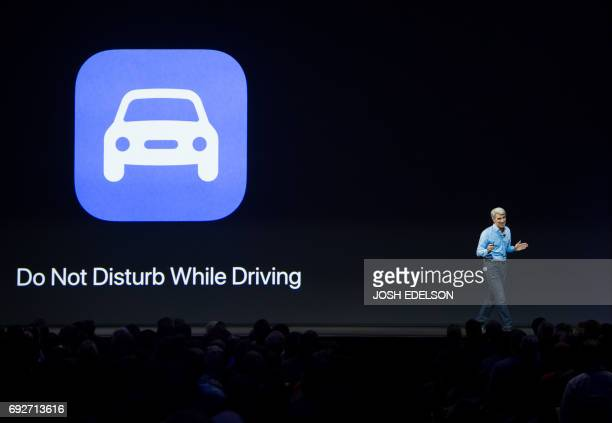Apple's Senior Vice President of Software Engineering Craig Federighi speaks on stage about CarPlay during Apple's World Wide Developers Conference...