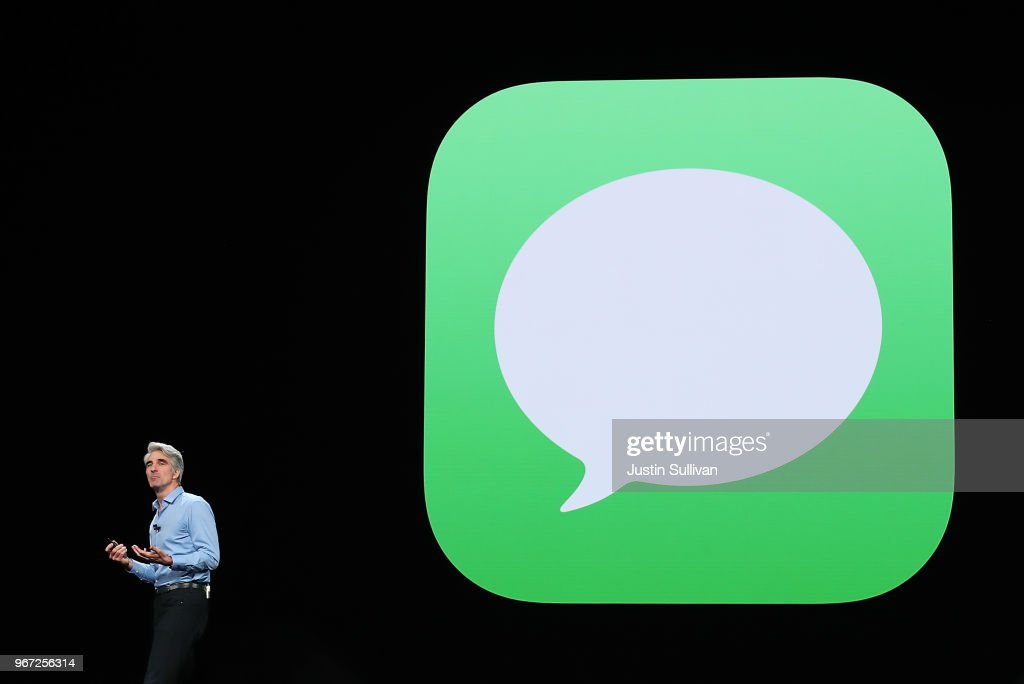 Apple's senior vice president of Software Engineering Craig Federighi speaks during the 2018 Apple Worldwide Developer Conference (WWDC) at the San Jose Convention Center on June 4, 2018 in San Jose, California. Apple CEO Tim Cook kicked off the WWDC that runs through June 8.