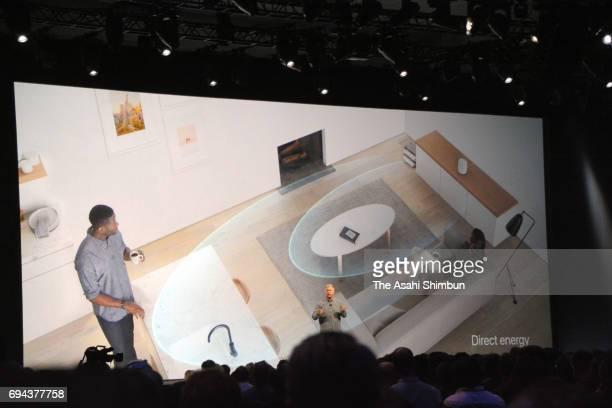 Apple's Senior Vice President of Worldwide Marketing Phil Schiller speaks during the opening keynote address the 2017 Apple Worldwide Developer...