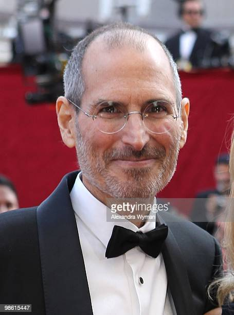 Apple's Steve Jobs arrives at the 82nd Annual Academy Awards held at Kodak Theatre on March 7 2010 in Hollywood California