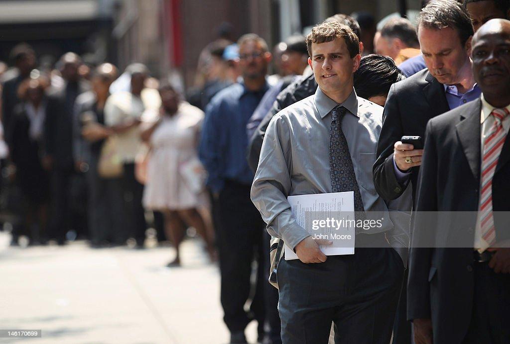 Job Fair Held In Midtown Manhattan : News Photo