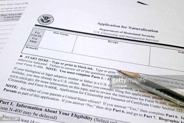 application form for us naturalization - immigration law stock pictures, royalty-free photos & images