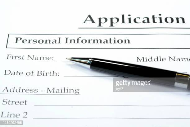 application form - application form stock pictures, royalty-free photos & images