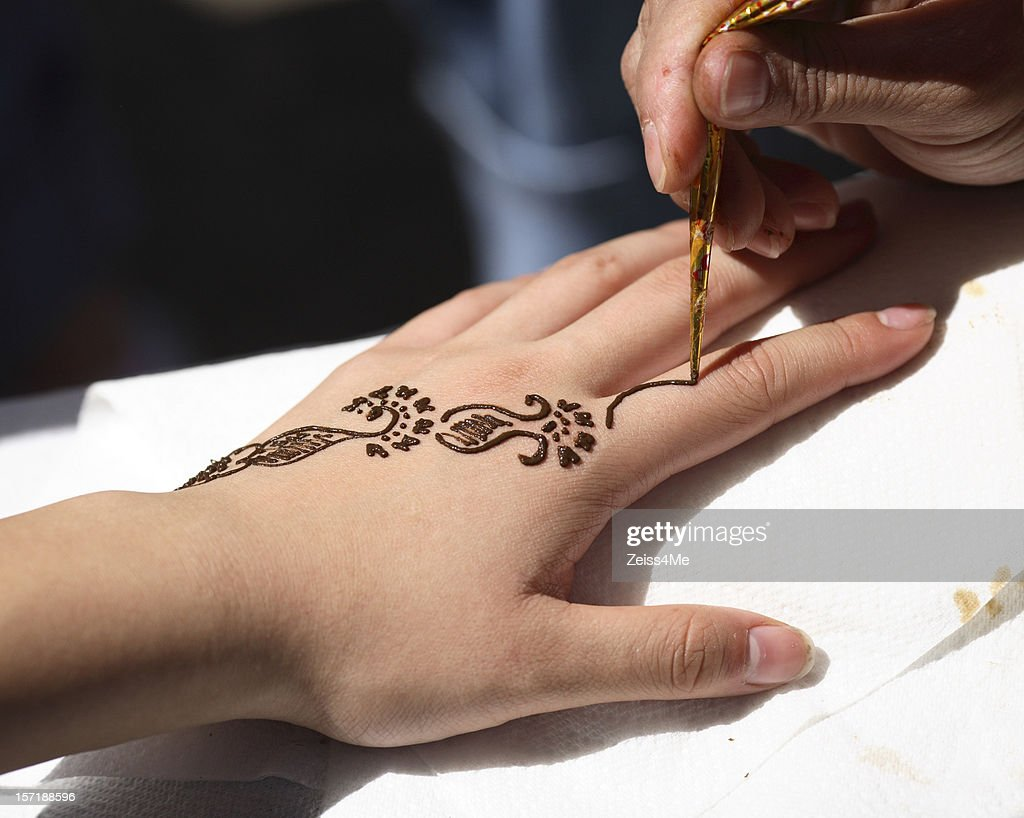 Mehndi Ke Tattoo : Henna tattoo stock photos and pictures getty images