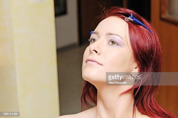 Auftragen von make-up