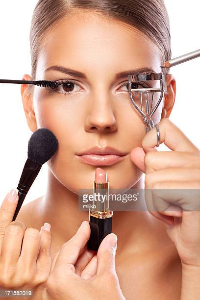 Applying professional make up