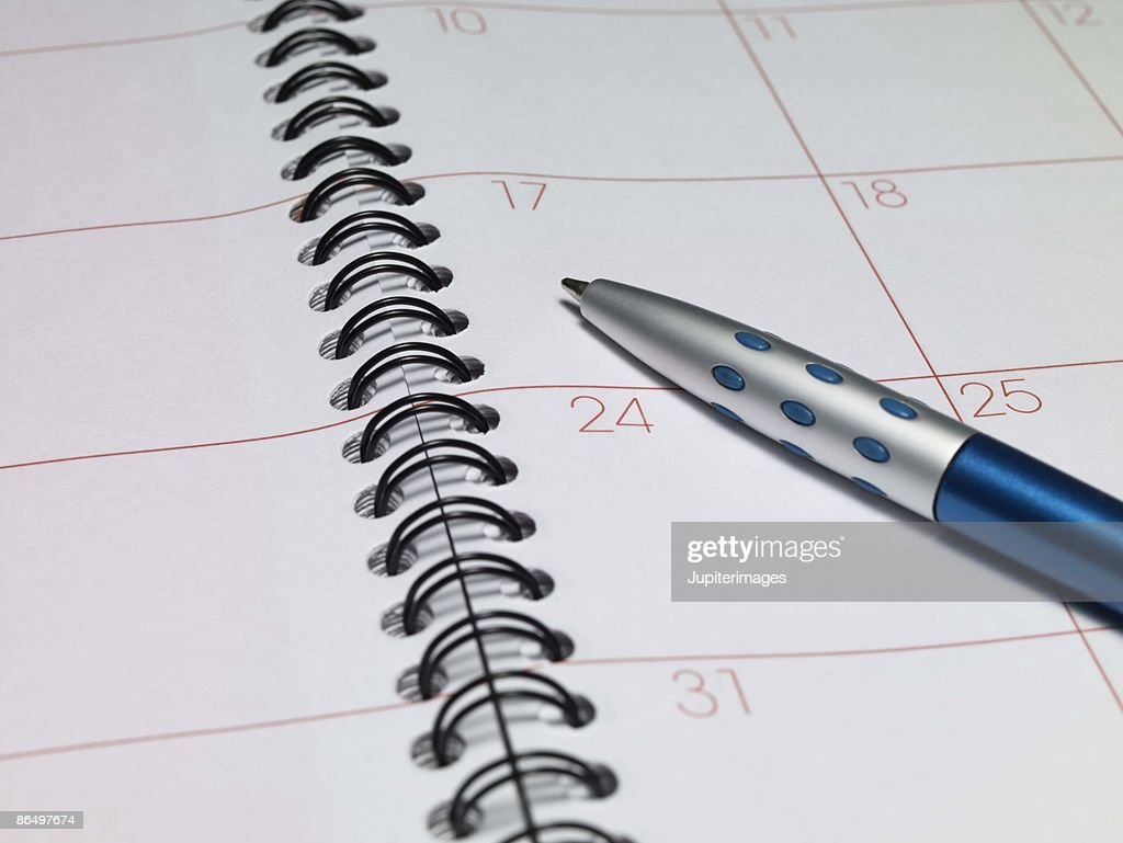 appointment book and pen stock photo getty images