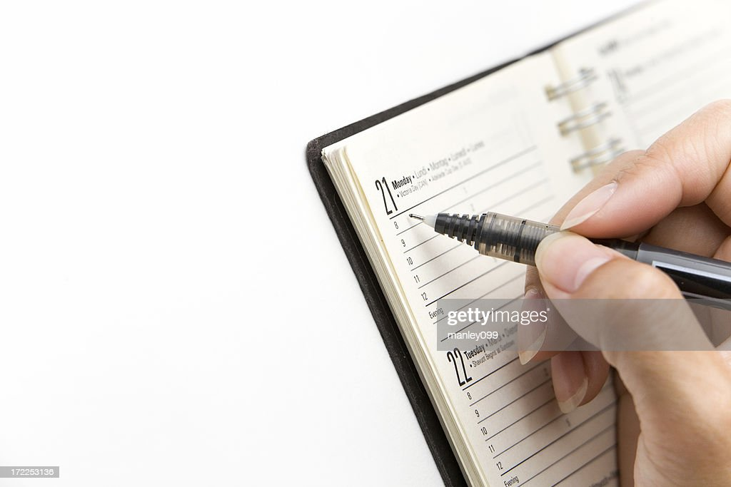 Appointment book : Stock Photo
