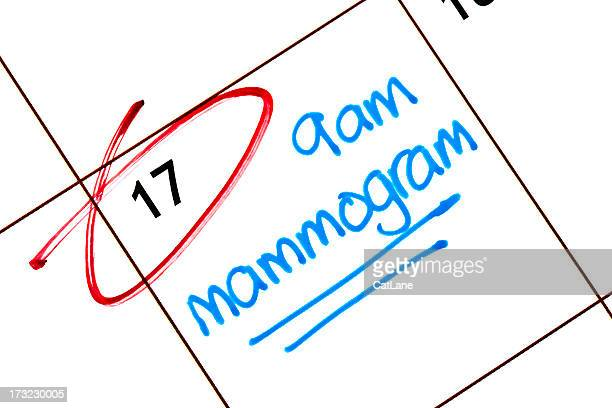 appointment for mammogram - pap smear stock photos and pictures