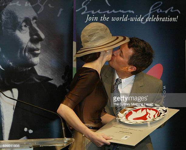 Appointment of the Hans Christian Andersen 2005 Ambassadors at the Utzon Room Sydney Opera House HRH Crown Princess Mary recieves her award and a...
