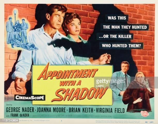 Appointment With A Shadow lobbycard from left George Nader Joanna Moore Brian Keith Virginia Field 1957