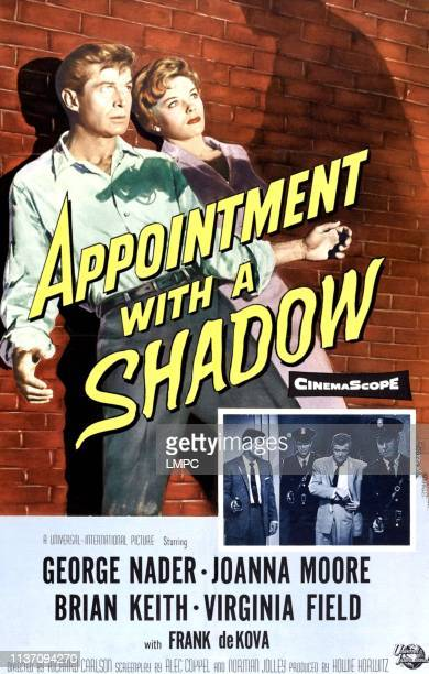 Appointment With A Shadow poster top lr George Nader Joanna Moore on poster art 1957