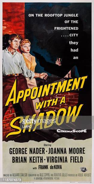 Appointment With A Shadow poster US poster from left George Nader Joanna Moore 1957