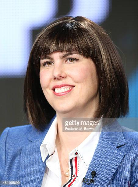 Appraiser Laura Woolley speaks onstage during the ' Antiques Roadshow/Treasures from History and Hollywood ' panel discussion at the PBS portion of...