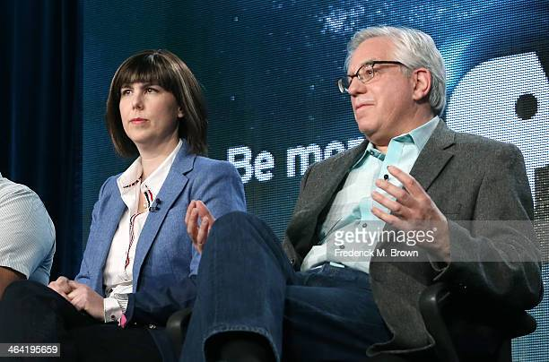 Appraisers Laura Woolley and Wes Cowan speak onstage during the ' Antiques Roadshow/Treasures from History and Hollywood ' panel discussion at the...