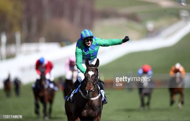 Appreciate It ridden by Paul Townend celebrates winning the Sky Bet Supreme Novices' Hurdle during the Sky Bet Supreme Novices' Hurdle on Day One of...