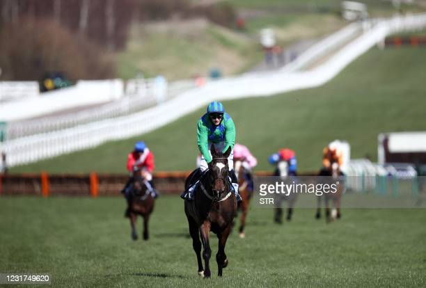 Appreciate It ridden by Paul Townend on their way to winning the Sky Bet Supreme Novices' Hurdle during the Sky Bet Supreme Novices' Hurdle on Day...