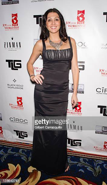 Apprentice 3 contestant Erin Elmore attends the 2010 Joy to the World Fest Black Tie Gala at the Ritz Carlton Hotel on December 18 2010 in...