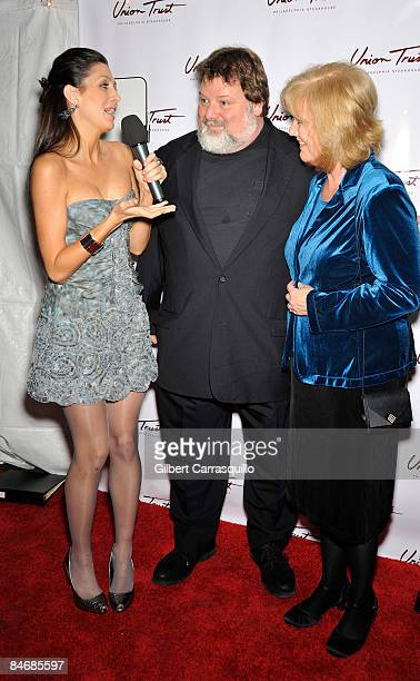 Apprentice 3 contestant Erin Elmore TV personalities Phil Margera and April Margera attend the Philadelphia Union Trust Steakhouse's opening gala on...