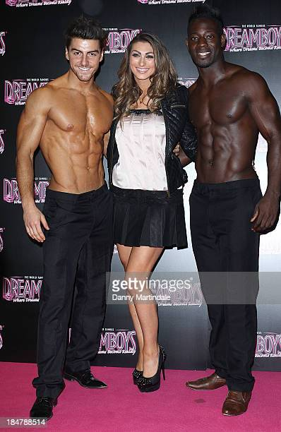Apprentice star Luisa Zissman is seen with topless male models at the Dreamboys hold a Gala performance at Rise Supperclub on October 16 2013 in...