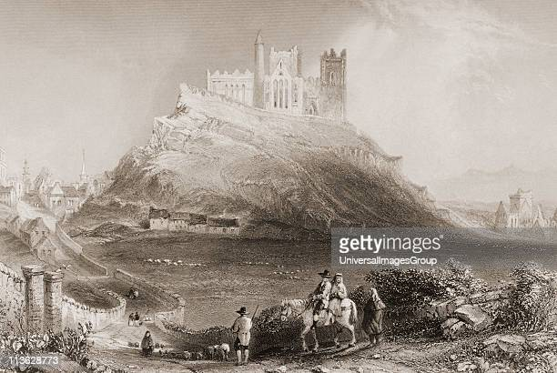 Approach to Cashel from the north Connemara County Galway Ireland Drawn by WHBartlett engraved by C CousenFrom 'The Scenery and Antiquities of...