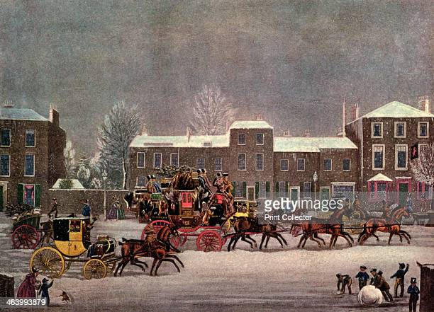 'Approach to Christmas' 19th century Plate taken from Famous Sporting Prints IV Coaching published by The Studio Limited