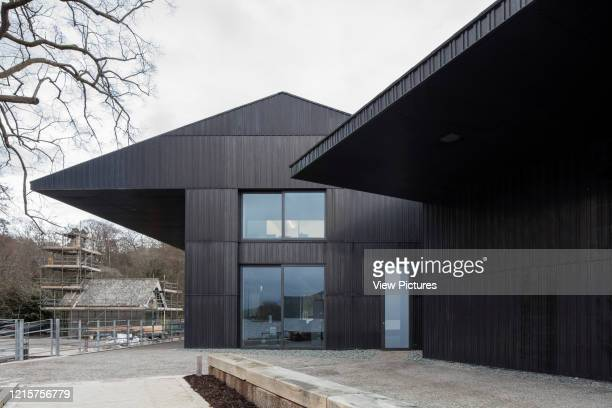 Approach towards main entrance. Windermere Jetty Museum, Windermere, United Kingdom. Architect: Carmody Groarke, 2019..