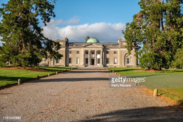 approaching emo court from the wellingtonia avenue - emo stock pictures, royalty-free photos & images