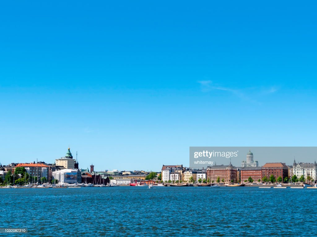 Approaching Helsinki harbour, Finland : Stock Photo
