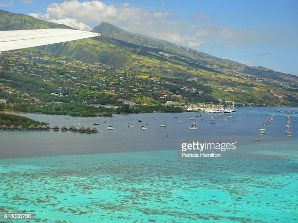 Approaching Papeete airport, Tahiti