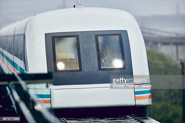 Approaching Shanghai Maglev
