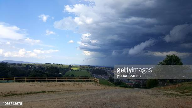 approaching storm clouds | melbourne | australia - approaching stock pictures, royalty-free photos & images