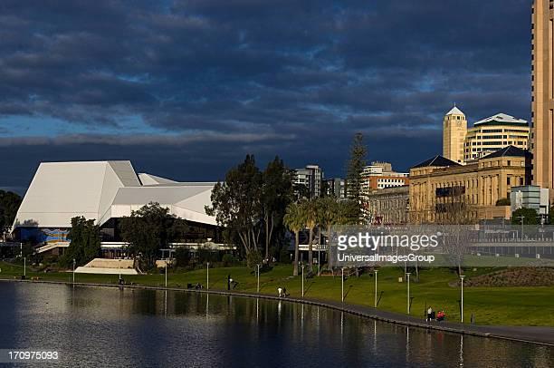 Approaching storm Torrens River Adelaide South Australia SA Australia