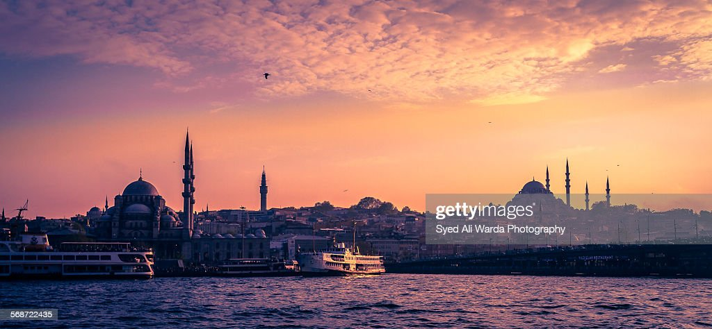 Approaching the City of Mosques : Stock Photo