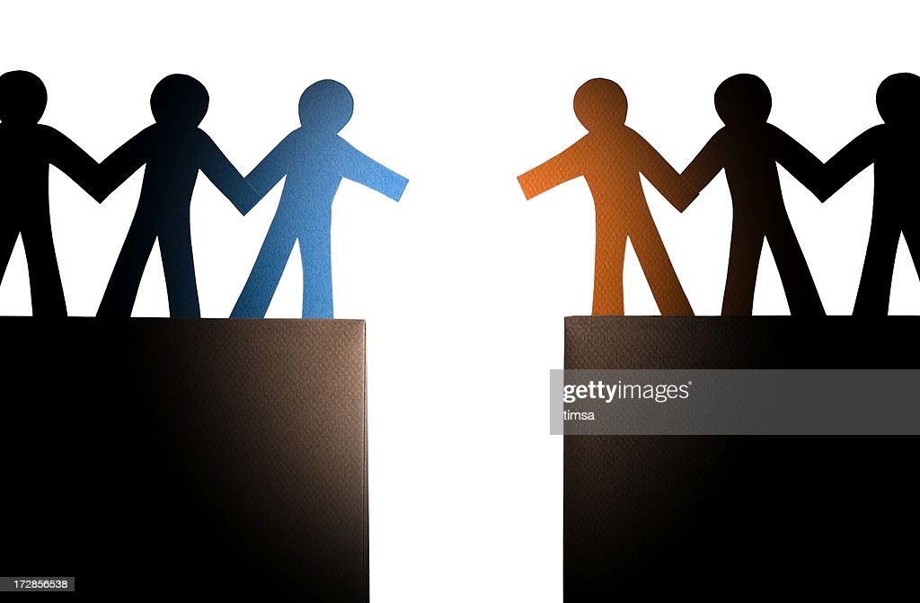 Approaching the other group : Stock Photo