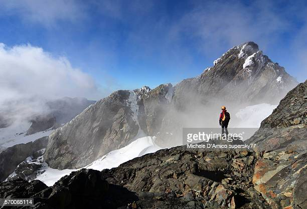 approaching the summit. - uganda stock pictures, royalty-free photos & images