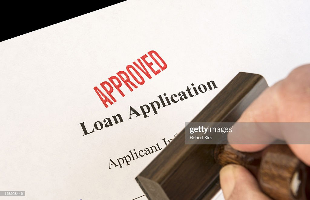 Approval of loan application : Stock Photo
