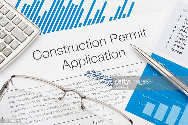 approved construction permit application - permission concept stock pictures, royalty-free photos & images