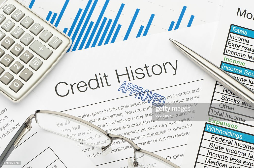 Approved Credit History form : Stock Photo