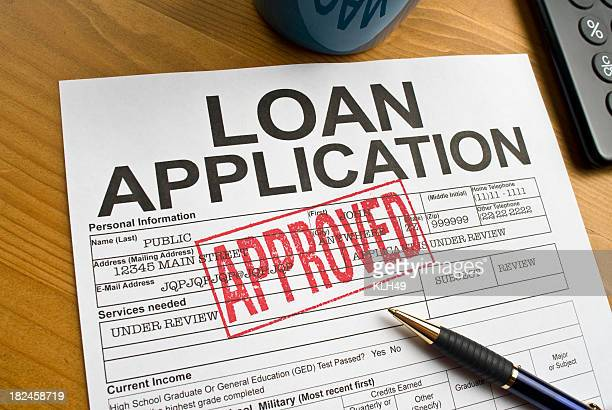 Approved Loan Application on a desktop
