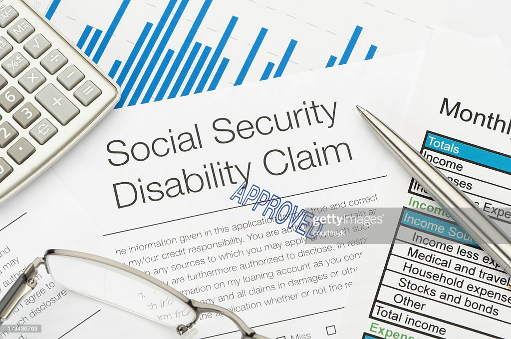 Approved Social Security Disability Claim Form : Stock Photo