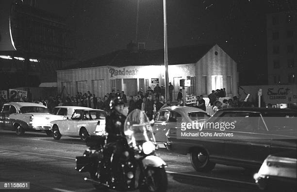 Approximately 1000 young music fans gathered at the Pandora's Box club on Sunset Strip to protest a 10pm curfew imposed by local residents during the...