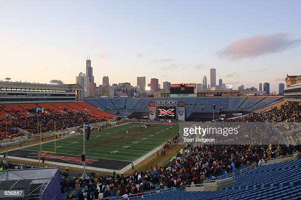 Approximately 15000 fans attend an XFL football game featuring the Chicago Enforcers against the Las Vegas Outlaws at Soldier Field in Chicago...