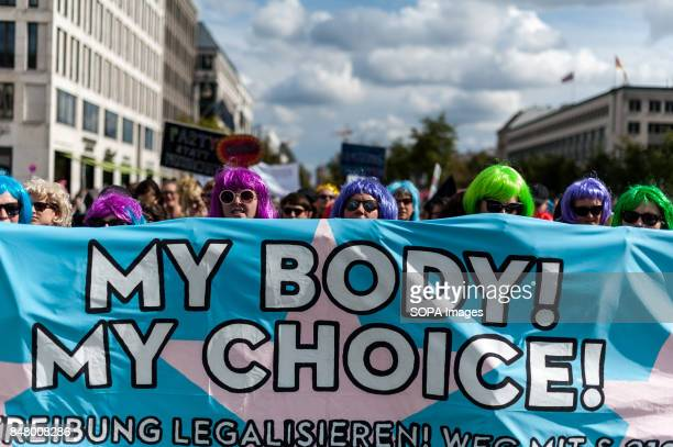 Approximately 2000 people participate in the counterdemonstration with the Motto 'My Body My Choice' Under the motto 'Protect the most vulnerable yes...
