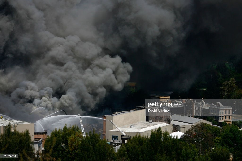 Firefighters Battle Blaze At Universal Studios : News Photo