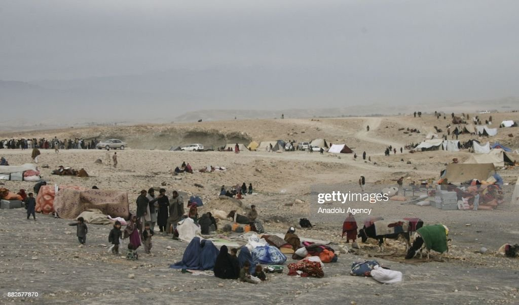 Approximately 9000 families fled from Daesh-Taliban fight : News Photo
